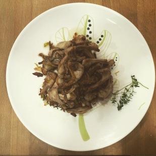 receta costillas de conejo ajos tiernos